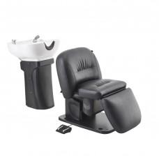 Salon Backwash Basin Optimus -Eletrical reclining backrest