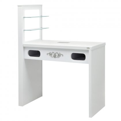 Manicure Table Quartz with Dust Extractor and LED Lighting